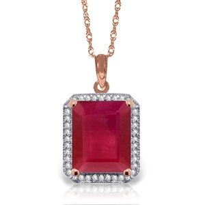 Galaxy Gold Products Jewelry - GOLD NECKLACE WITH NATURAL DIAMONDS & RUBY